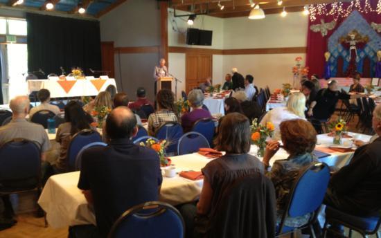 Warren Weber delivering keynote address