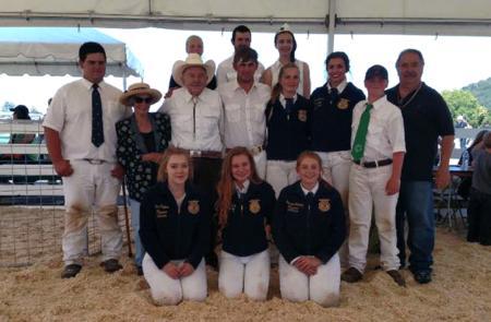 Marin County 4-H and FFA members at Marin County Fair