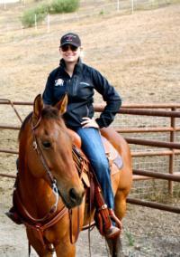 Jamie on horseback
