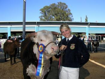 Jamie w cow